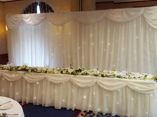 Wedding Top Table Skirt Hire